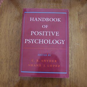 NWT BOOK: Oxford Handbook of Positive Psychology